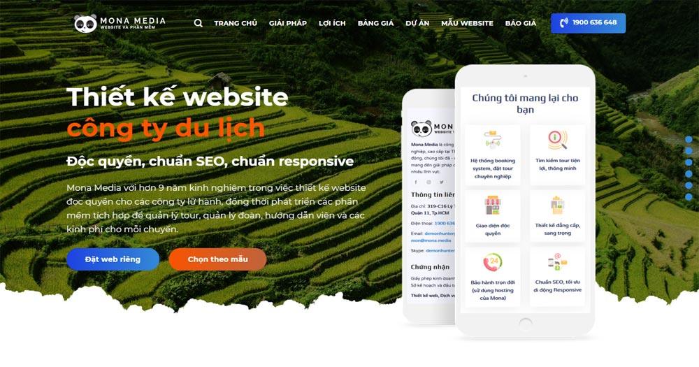 Thiết kế website du lịch chuẩn SEO giúp doanh nghiệp mở rộng hình ảnh thương hiệu