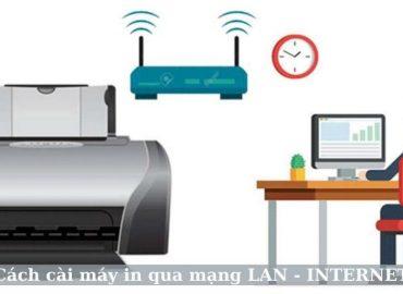 Cách cài máy in qua mạng